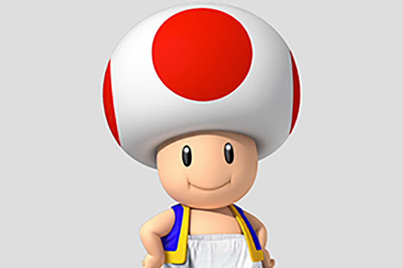 A really good picture of Toad.