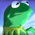 Oh no, someone pissed off Kermit