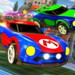 We obviously need these Nintendo-themed 'Rocket League' cars in 'Mario Kart'